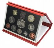 1997 Proof set red Leather deluxe